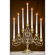 Ave Maria Church Candelabra