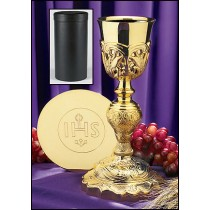 Coronation Chalice with IHS Paten & Case