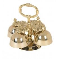 Oak Leaf Four Cup Hand Church Altar Bells