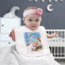On Your Baptism Baby Bib - Girl
