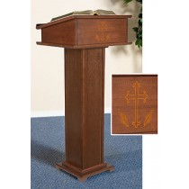 Silk Screened Church Lectern with Shelf