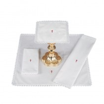 Red Cross with Lace Trim Mass Linens