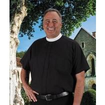 Roomey Toomey Mens Clergy Neckband Shirt - Short Sleeve