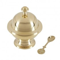 Round Incense Boat with Spoon