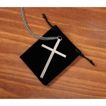 Silver Plate Clergy Pectoral Cross