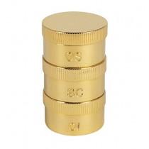 Triple Oil Stock set Brass