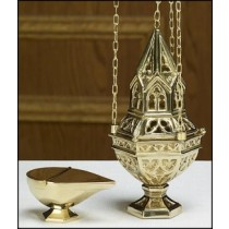 Ornate Censer and Boat Set
