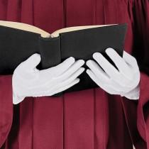 White Choir Gloves