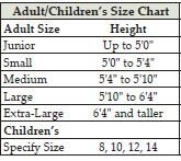 Baptism Gown Size Chart