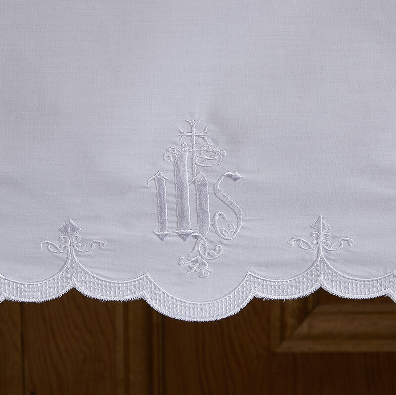 Embroidered IHS Altar Frontal