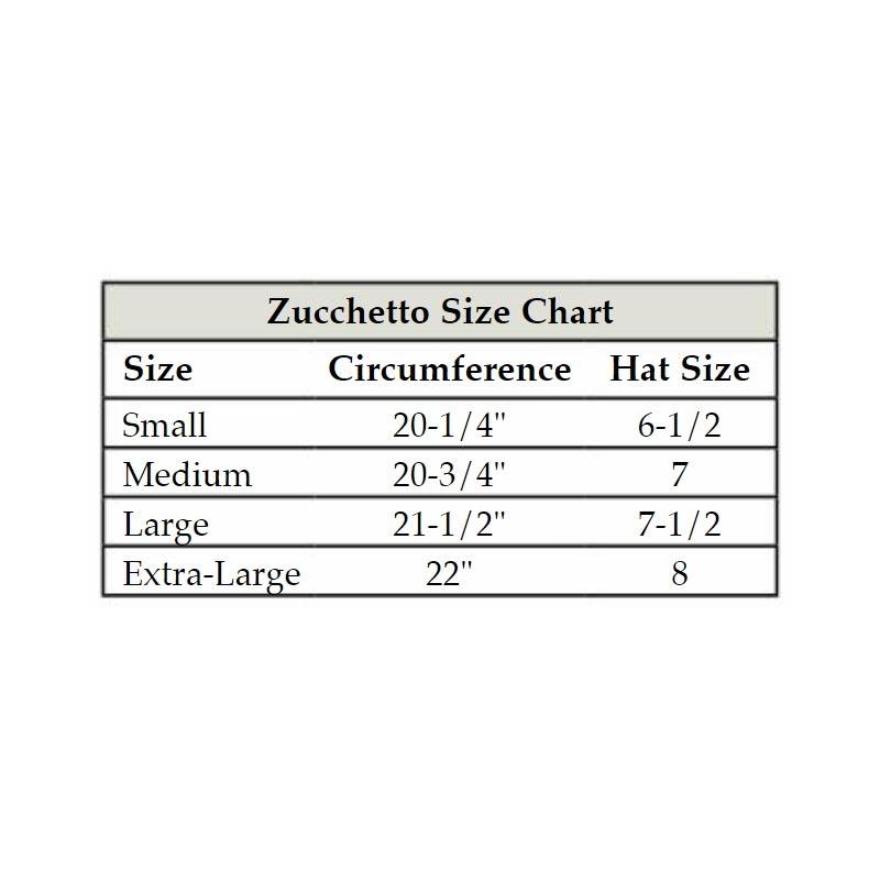 zucchetto Size Chart